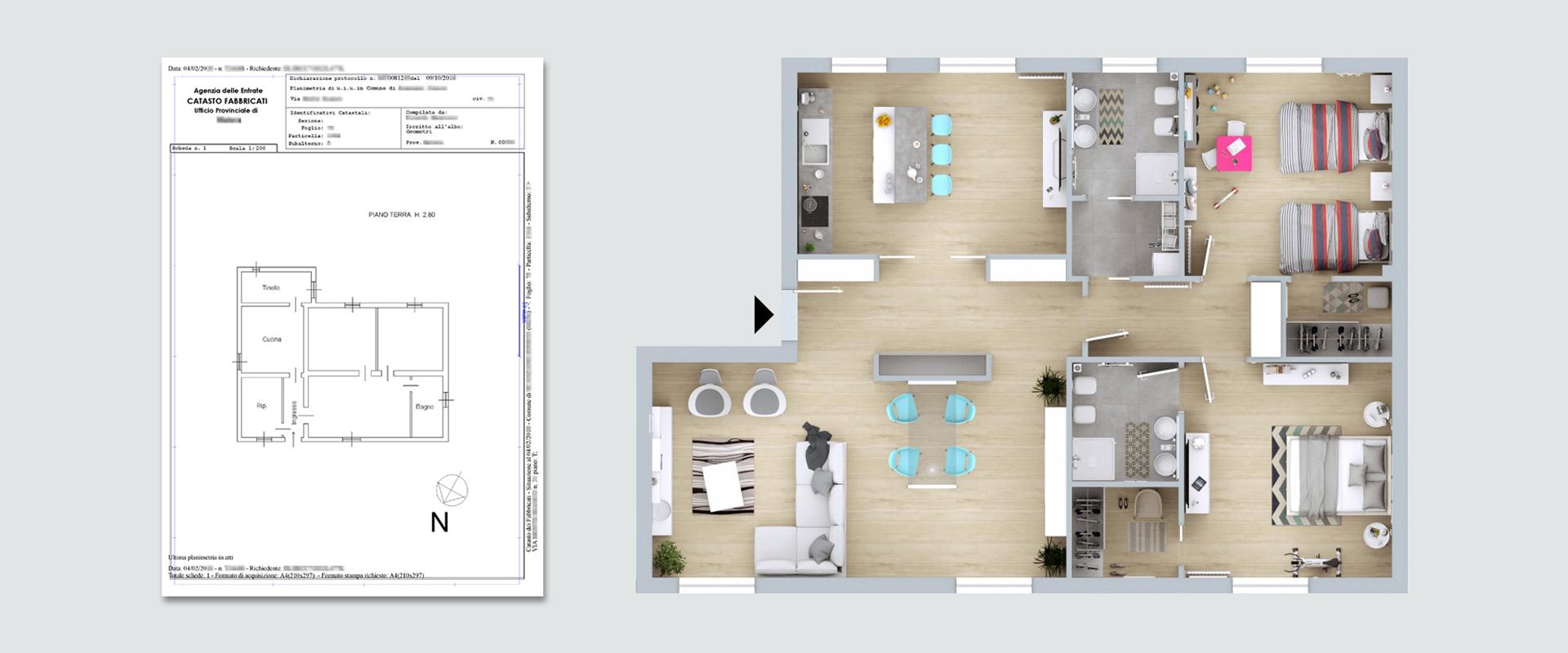 Planimetria Casa Online Planimetrie Immobiliari